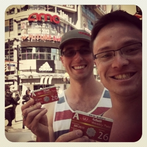 Us with our weekly Toronto transport cards.