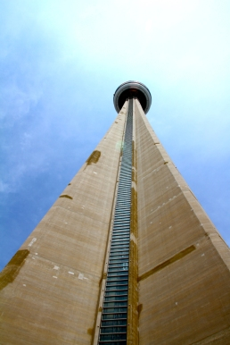The CN Tower from below.