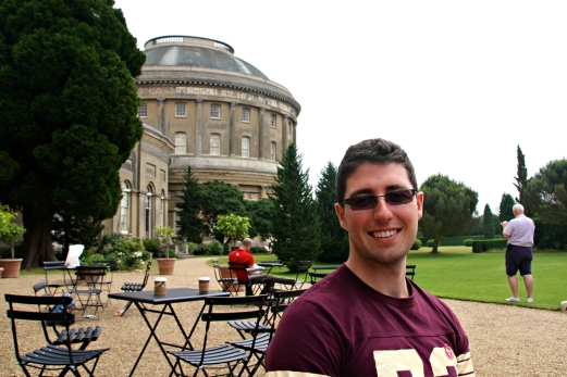 Me outside. The rotunda in the background.