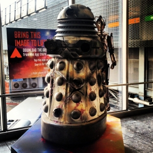 Darlek in Heathrow. Surely that's not safe.