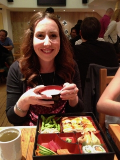 Donna with her miso.