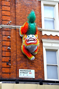 Cool Chinese dog/dragon seen on the way to the Gielgud Theatre.