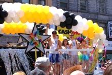 Lots of balloons at the parade.