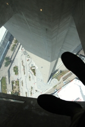 The glass floor. You do feel a bit woozy when you first look down.