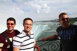 Glen, Jim and me at Niagara Falls.