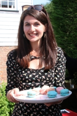 Jo with the homemade macarons - or what's left of them.