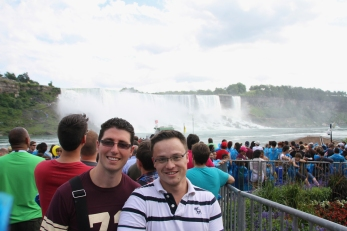Glen and me with the American Falls in the background.