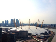Millennium Dome from up high.