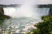 Niagara Falls with Maid of the Mist. That was us earlier in the afternoon.