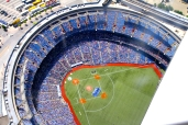The Rogers Centre. The Blue Jays were playing today.