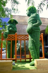 Really tall topiaries for Festival of the Neighbourhood