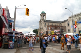 Danforth on the way back. Lots more people this time.