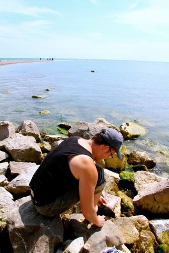 Glen on the rocks.