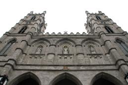 Outside Notre Dame.