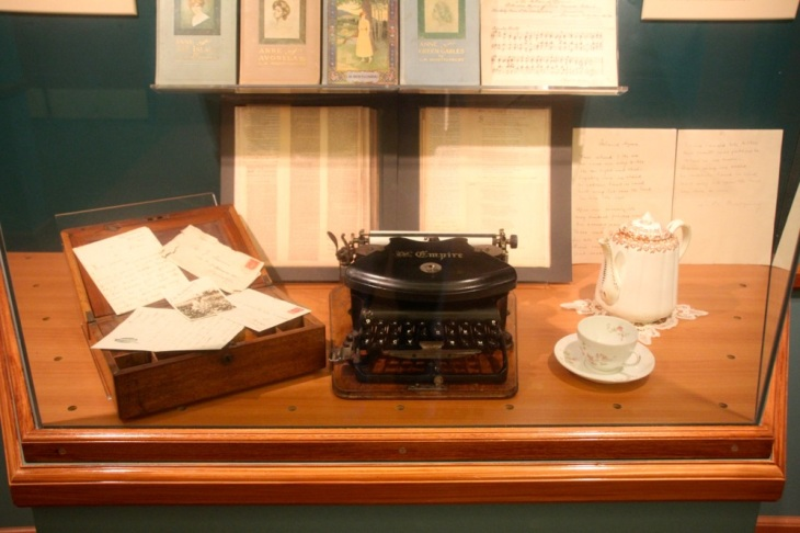 Montgomery's typewriter and copies of letters