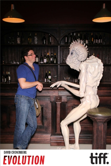 Me chatting up a mugwump.