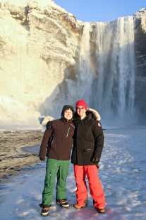 Happy couple at the falls