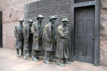 At the FDR memorial