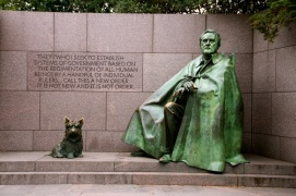 FDR and his dog