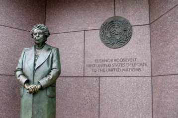 Eleanor Roosevelt at the FDR memorial