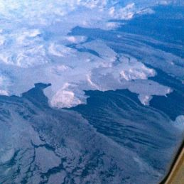 Stunning views from the plane.