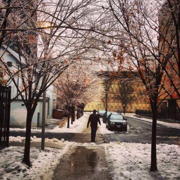 Glen on an icy street