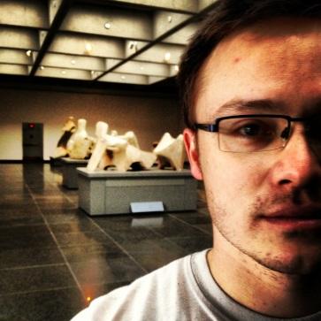 Glen in the Henry Moore gallery