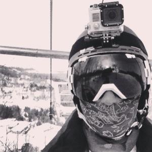 Me on the ski lift