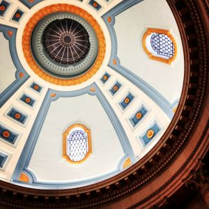 The domed roof in the Manitoba Legislature - right above the star of Ishtar