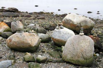 More rock stacking