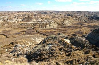Dinosaur Provincial Park. The photo doesn't do it justice for the sheer jaw-droppingness of the place.