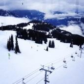 The view while in the peak-to-peak gondola