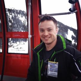 Having a rest in the peak-to-peak gondola