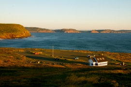 The parking lot at Cape Spear
