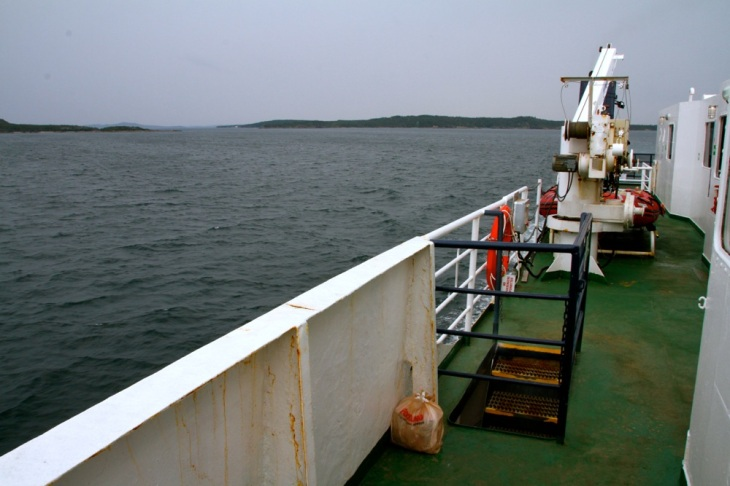 On the ferry to Fogo