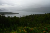 Moody Gros Morne in the rain