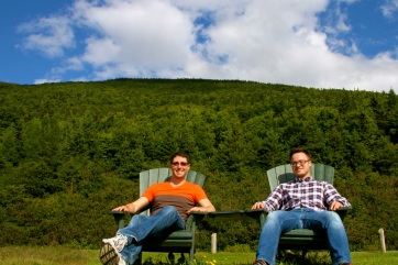 Taking a moment out from driving to capture the beauty of Gros Morne