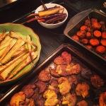 Parsnips, carrots, sweet potatoes and potatoes