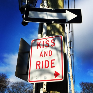 For some reason the 'park and rides' here are called 'kiss and ride'. Sounds a little dirty to me.