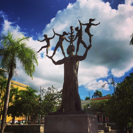 Sculpture in Old San Juan. One of many.