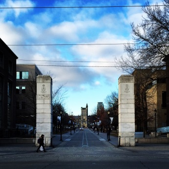 The entryway to Kings Circle at University of Toronto.