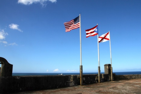 Three Flags: USA, Puerto Rico and the Burgundy Cross