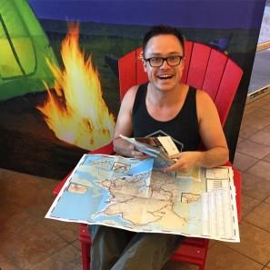 Glen planning our trip