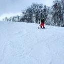 Glen rescuing my ski