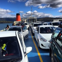 On the ferry to Bruny Island