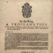 Proclamation following the Great Fire