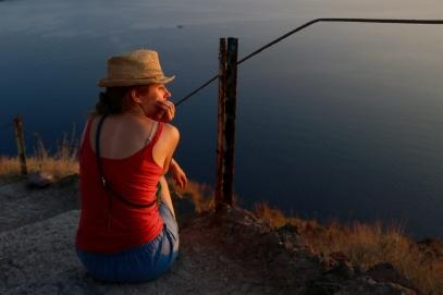 Anna at Sunset