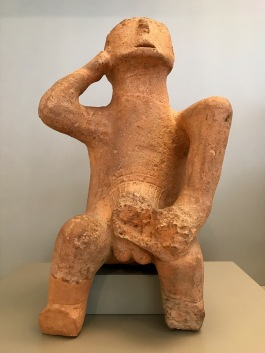 Neolithic male sculpture