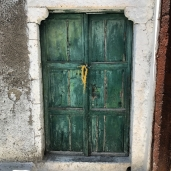 Green door in Pyrgos