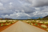 Driving to Hamersley Gorge
